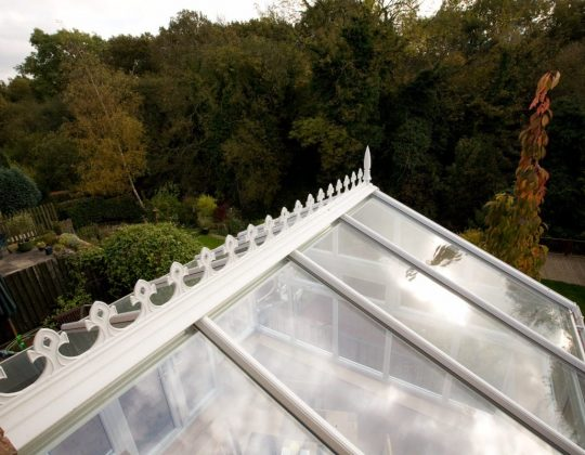Global Legend White Gable 7 conservatory roof external